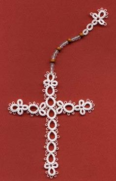 Charity bookmark Tatting