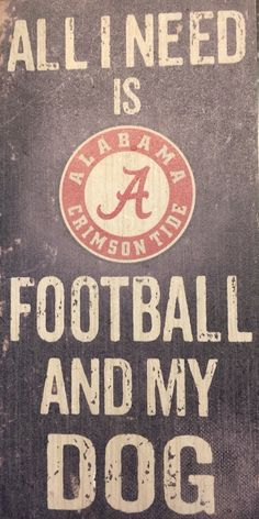 Alabama Crimson Tide Wood Sign - Football and Dog of Fun Gift for any occasion great products shipped from the USA Alabama Football Team, University Of Alabama, Football Season, Nfl Football, Alabama Crimson Tide Logo, Crimson Tide Football, Bama Fever, Tuscaloosa Alabama, Thing 1