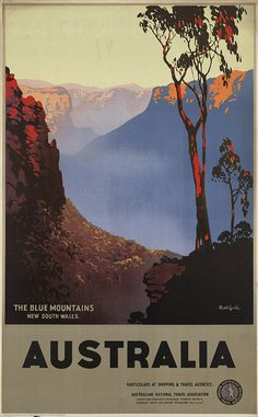 vintage travel posters australia - Google Search