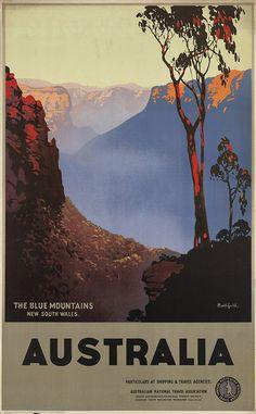boston public library-travel posters-australia blue mountains-james northfield