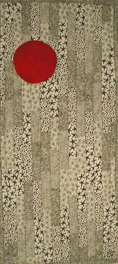 Purrfect Stitchers Red Moon. Cool use of different patterned monochrome.
