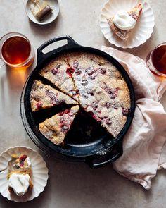 Rhubarb and Honey Panna Cotta — Apt. 2B Baking Co. Macaroon Cake, Skillet Cake, Rhubarb Cake, Raspberry Cake, Pineapple Upside Down Cake, Stone Fruit, Brownie Cookies