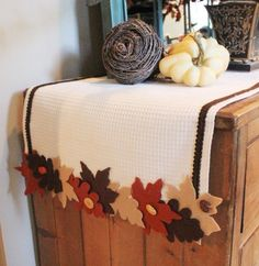 No Sew Fall Leaf Runner-from The Everyday Home