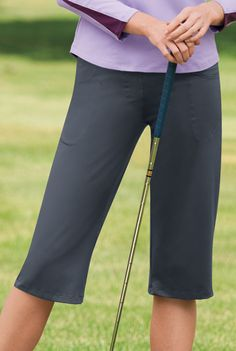 Performance Capri with Compression. Perfect for sports of all types and any other time you want to stay cool!