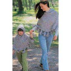 Mary Maxim - Free Just Me & Mom Ponchos Knit Pattern - Free Patterns - Patterns & Books