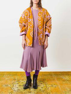 2-Way Kimono Coat Pink/Gold