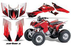 HONDA TRX300EX ATV GRAPHIC KIT DECAL STICKERS 300EX QUAD PARTS 07-12  CARBON RED