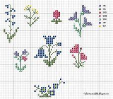 """Результаты поиска изображений по запросу """"flower cross stitch"""""""