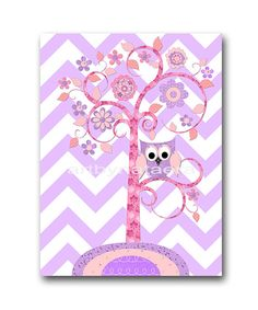 Baby Nursery Decor Kids Wall Art Kids Art Pink by artbynataera