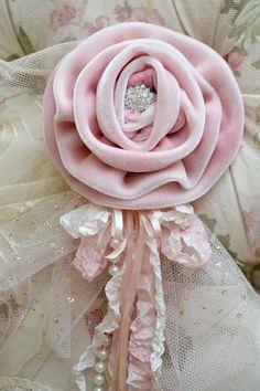 Beautiful Pink Velvet Gillyflower Handmade by by Jenneliserose