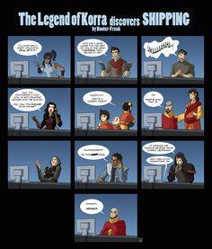 #LegendOfKorra Characters Discover Shipping - Bwahahahaha