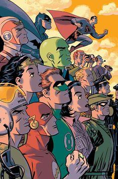#Justice #League #Fan #Art. (Justice League: New Frontier. Cover) By: Darwyn Cooke. (THE * 5 * STÅR * ÅWARD * OF: * AW YEAH, IT'S MAJOR ÅWESOMENESS!!!™)[THANK U 4 PINNING!!!<·><]<©>ÅÅÅ+(OB4E)    https://s-media-cache-ak0.pinimg.com/564x/d1/05/b1/d105b1ba4b72d7047f3a1cb74b84c561.jpg