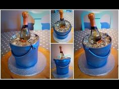 Champagne ice bucket cake