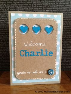 Baby Boy Card. Hand made