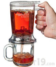 IngenuiTEA loose leaf teapot. It makes loose tea so much easier and yummier!