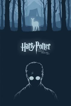 Here's my poster for Harry Potter and the Deathly Hallows Part 1 . Other than Prisoner of Azkaban , this is probably my favorite of the H. Harry Potter Poster, Harry Potter Plakat, Harry Potter Movies, Harry Potter World, Magia Harry Potter, Arte Do Harry Potter, Harry Potter Universal, Deathly Hallows Part 1, Harry Potter Deathly Hallows