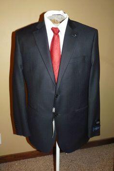 8439097d52856 42R Ermenegildo Zegna Men's Black Wool Silk Suit Made Italy Saks NWT $1295  #Fashion #