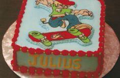 Buttercream cake for a skateboarder's birthday Ann Lowenthal