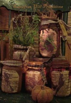 Sassafrashill.com - grungy jar patterns.