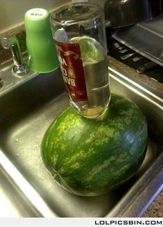 Vodka Infused Melon. These were at every summer party when I was kid. Its my turn now!