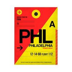 PHL Philadelphia Luggage Tag