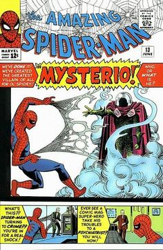Amazing Spider-Man # 13 , June 1964 , Marvel Comics Vol 1 1963 Marvel Comics, Marvel E Dc, Marvel Comic Books, Comic Book Heroes, Comic Books Art, Comic Art, Marvel Villains, Marvel Characters, Amazing Spiderman