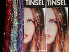 Hair Tinsel Hair Bling Hair Glitter red silver by ChickenHeads, $2.00