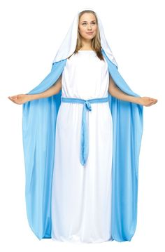 The Plus Size Mary Costume is the perfect 2018 Halloween costume for you. Show off your Womens costume and impress your friends with this top quality selection from Costume SuperCenter! Blue Costumes, Adult Costumes, Costumes For Women, Halloween Costumes, Party Costumes, Costume Shop, Doll Costume, Virgin Mary Costume, Biblical Costumes