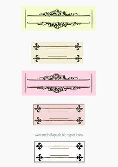 free digital and printable ornament tags, digi stamp and scrapbooking embellishment – Vintage Etiketten – freebie | MeinLilaPark – digital freebies