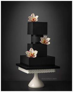 Luxury Wedding Cake, Black Wedding Cakes, Elegant Wedding Cakes, Elegant Cakes, Wedding Cake Designs, Camo Wedding, Wedding Black, Creative Wedding Cakes, Creative Cakes