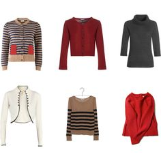 Gamine Sweaters by ivoryangel on Polyvore featuring Orla Kiely, Jaeger, Dorothy Perkins, Richer Poorer and Pablo de Gérard Darel