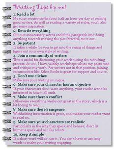 Writing tips?