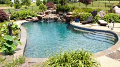 Having a pool sounds awesome especially if you are working with the best backyard pool landscaping ideas there is. How you design a proper backyard with a pool matters. Cheap Inground Pool, Small Inground Swimming Pools, Swimming Pool Repair, Swimming Pool Designs, Pool Decks, Pool Images, Backyard Pool Landscaping, House Ideas, Concrete Pool