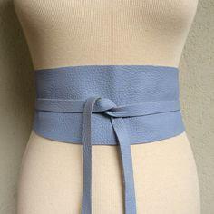 Sky  Handmade Blue Sky Lilac Italian Leather by TheButterfliesShop
