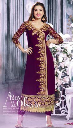 Superb Violet #Partywear Salwar Kameez @ http://www.indiandesignershop.com/product/superb-violet-partywear-salwar-kameez/