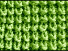 Como Tejer Punto Trigo-Seed Stitch Knitting 2 Agujas (272) - YouTube