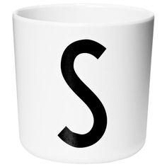 Design Letters Melamine Cup S White