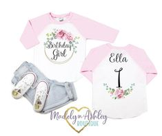 Girls Birthday Shirt-Birthday Girl Shirt-Girls Birthday Clothes-Girls First Birthday Shirt-Girls First Birthday Shirt First Birthday Shirts, Girl First Birthday, Cake Smash Photos, Home Outfit, Baseball Shirts, Classic Looks, Shirts For Girls, First Birthdays, Little Girls