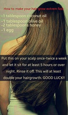 Learn how to make your hair grow extremely fast