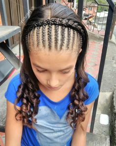 Pin by Sandra Garcia-Medrano on Hair in 2019 Lil Girl Hairstyles, Baddie Hairstyles, Down Hairstyles, Braided Hairstyles, Hairstyles Videos, Curly Hair Styles, Natural Hair Styles, Pinterest Hair, Homecoming Hairstyles
