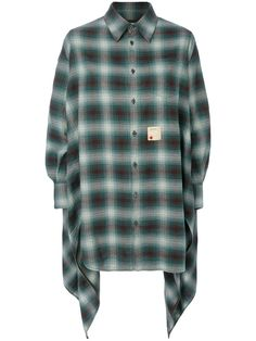 DSQUARED2 DSQUARED2 - ASYMMETRIC CHECKED SHIRT . #dsquared2 #cloth #