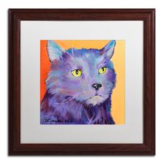 Frenchy by Pat Saunders-White Matted Framed Painting Print