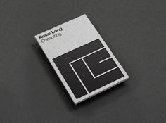 Picture of business card designed by Matthew Hancock for the project Rossi Long Consulting. Published on the Visual Journal in date 20 October 2015 Blog Inspiration, Typography Inspiration, Book Cover Design, Book Design, Graphic Design Projects, Print Design, Design Ideas, Grid, Minimal Web Design