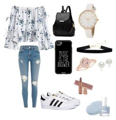"""Untitled #85"" by beddiann ❤ liked on Polyvore featuring adidas, Casetify and AK Anne Klein"
