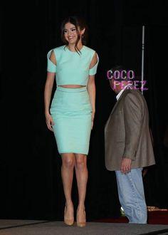 Selena Gomez wears Cushnie et Ochs to Spring Breakers photocall at SXSW.