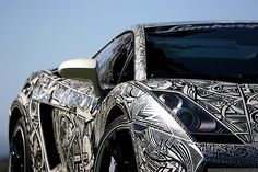 lamborghini gallardo done in sharpie markers  I want to do this one day. With a Chrysler.