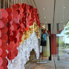Loving the hanging circles in this Anthropologie window. Perhaps a backdrop for exchanging vows?