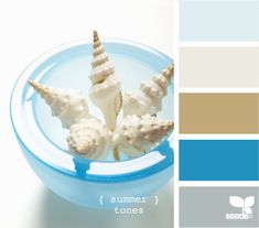 summer tones - this will totally be the color scheme for the beach house!