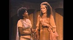 "Nichelle Nichols as Charmain and Lynn Redgrave as Cleopatra in ""Antony and Cleopatra,"" 1983."