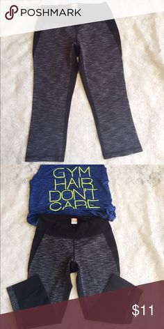 """Lucy Powermax Yoga Pants Medium size materials is made of 87% nylon/13% spandex🔸approximately 3x used kinda big for me, in great shape🔸 7""""inches inseam Lucy Pants Leggings"""